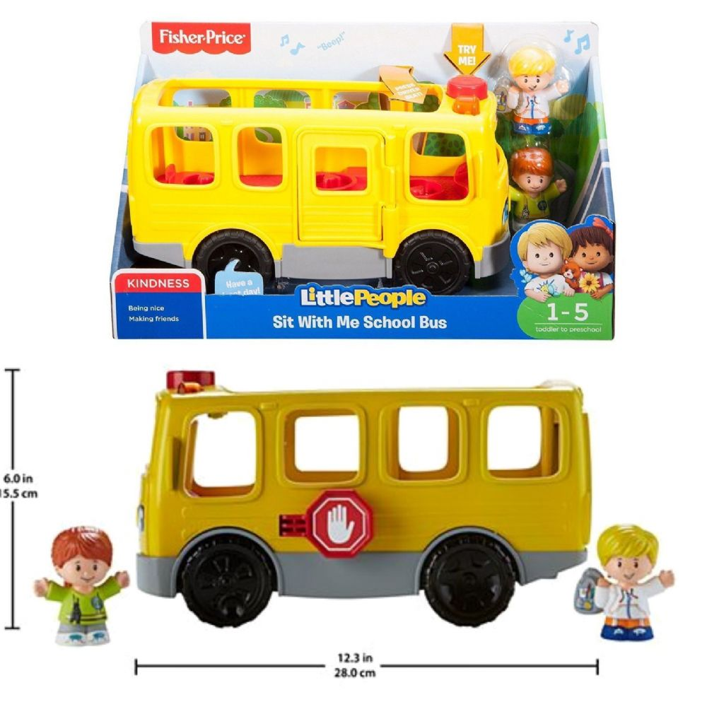 Fisher Price Little People Sit With Me School Bus